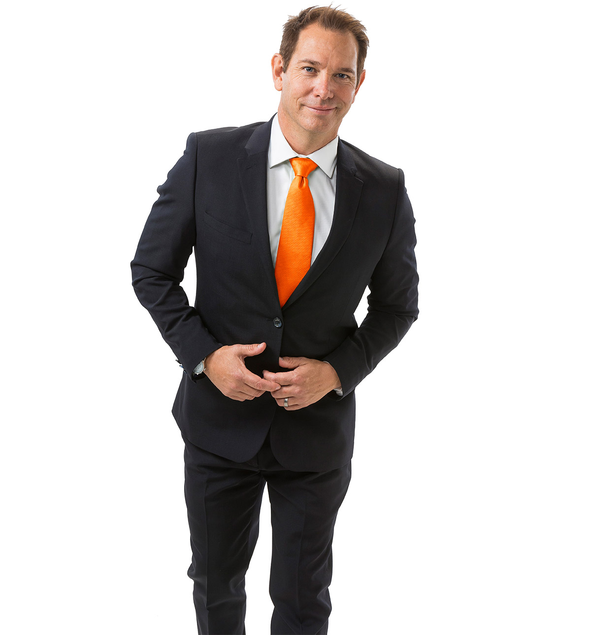 grant driver orange tie